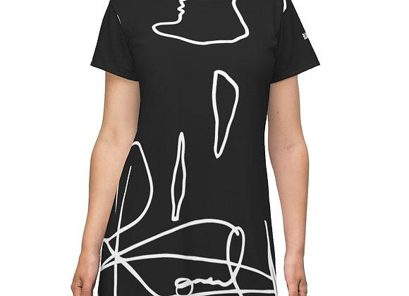 T-Shirt Dress Black And White Co