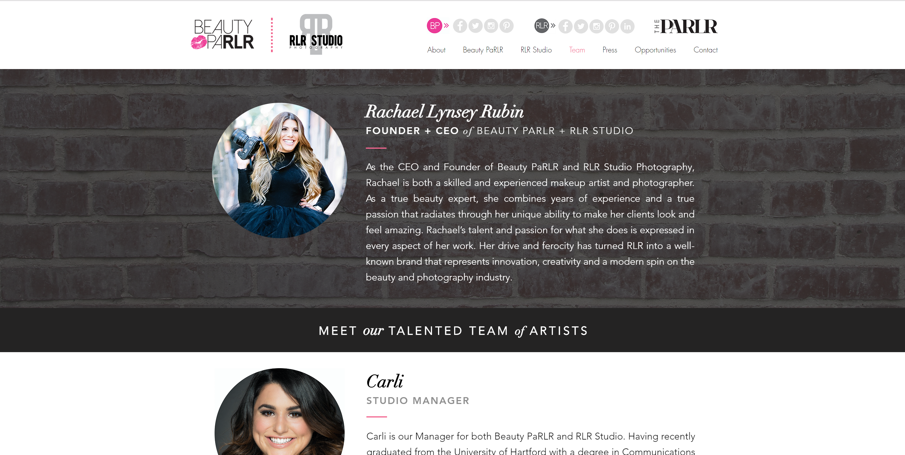 Sarah Cas Graphic Design Website Design Beauty PaRLR 02