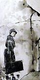 Sehnsucht nach Island, Acrylmalerei /Holzschnitt auf Leinwand