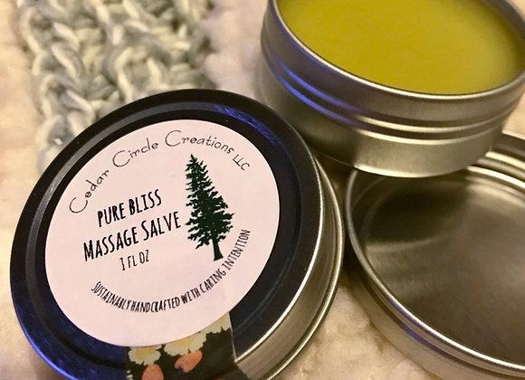 Pure Bliss Massage Salve 1 oz