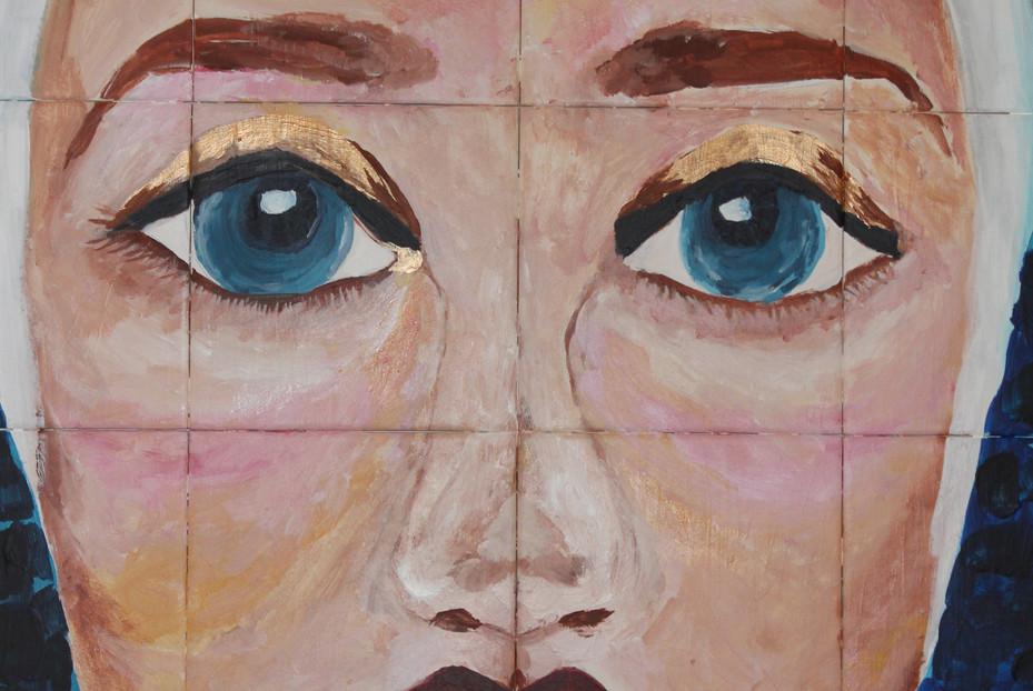 """Tile plateau """"Maria dos olhos de piscina"""""""