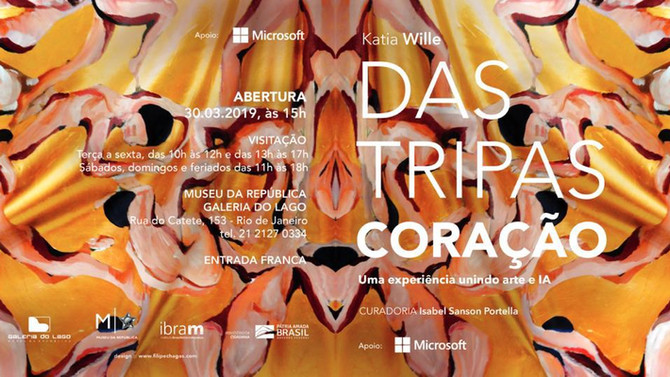 "Katia Wille at opening ""Das Tripas Coração"" at Gallery do Lago / Museum of the Republic -"