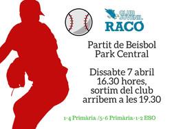 Partit de BeisbolPark Central (2)