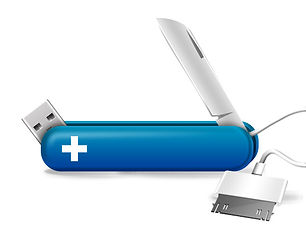 Tech Couteau bleu