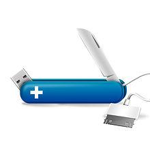 Tech Knife Blue