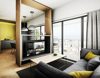 Fabric Village Residential Property in Liverpool - living