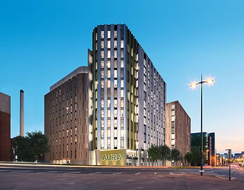 Outside building in Aura student accommadation property investment in Liverpool UK
