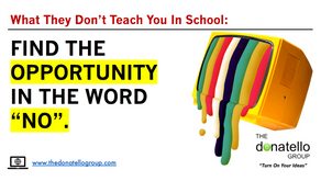 """Find the opportunity in the word """"No""""."""