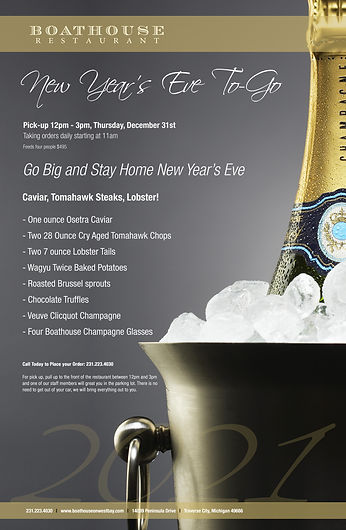 Boathouse New Years Eve to-go menu 2020-