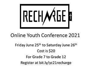 Recharge Online Youth Conference 2021 43