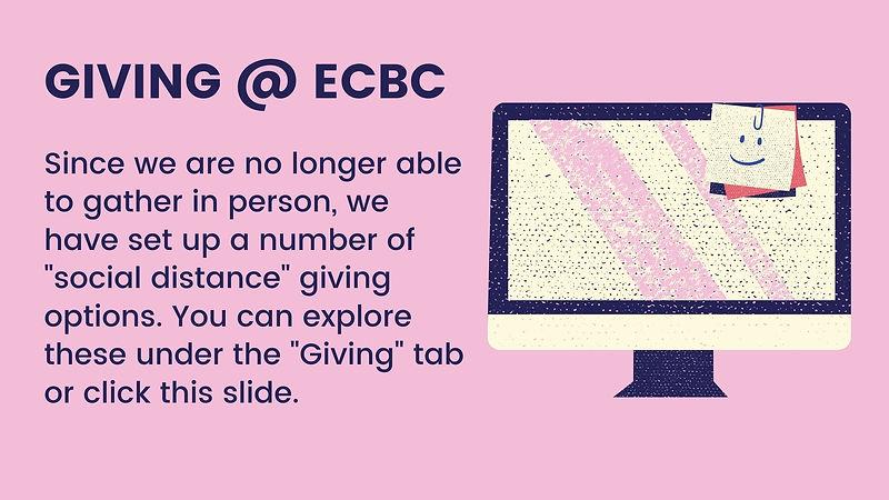 Giving at ECBC