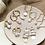 Thumbnail: Gold Freshwater Pearl Hoop Earrings