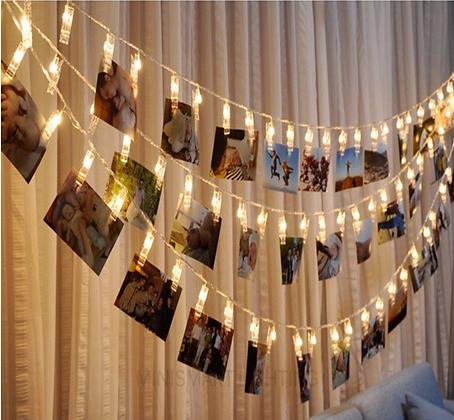LED Fairy Lights Photo Clips