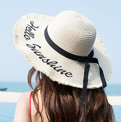 "Summer Sun Hat ""Hello Sunshine"""