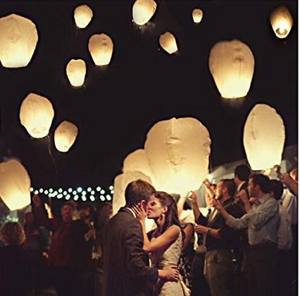 20 x Eco-Friendly Sky Lanterns