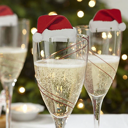 10 Pcs Christmas Party Decoration for Wine Glasses