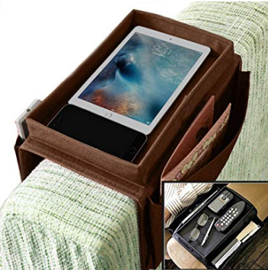 Couch Sofa Arm Rest Organizer with Cup Holder and Tray