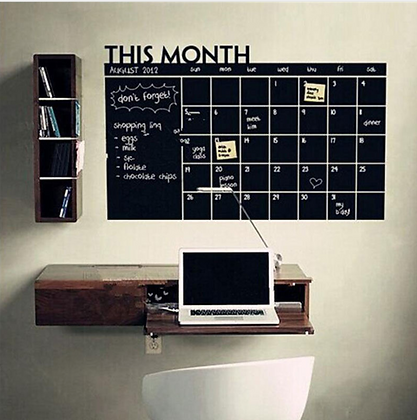 Monthly Blackboard Removable Wall Sticker Planner