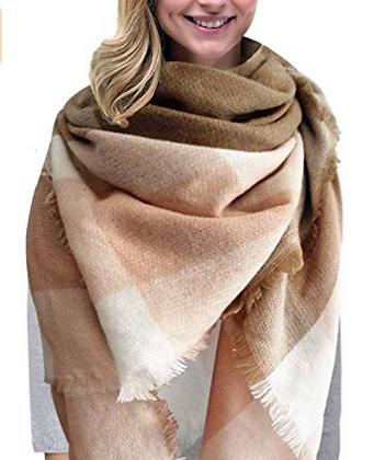 Women's Oversized Winter Scarf Poncho