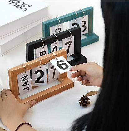 Flip Date Display Calendar