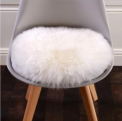 Soft Roud Faux Sheepskin Fur Rug