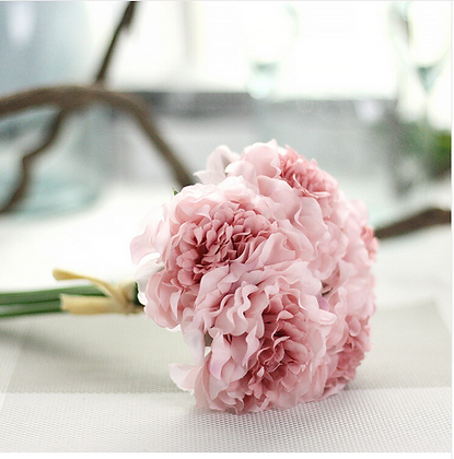 Bouquet Peony Artificial Flowers Floral Wedding Bridal