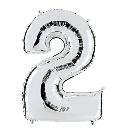 Gold/ Silver Number Birthday Balloons