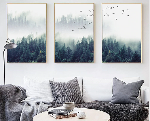 Nordic Forest Landscape Wall Art Poster