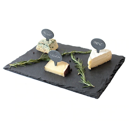 Premium Matte Black Stone Plate Cutting Board