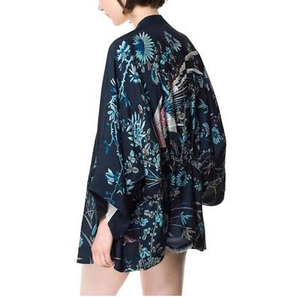 Women Japanese Kimono Phoenix Printed