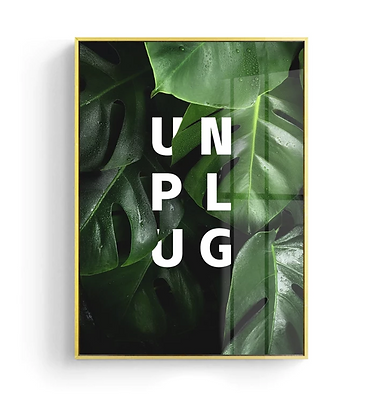 Unplug Canvas Print Poster