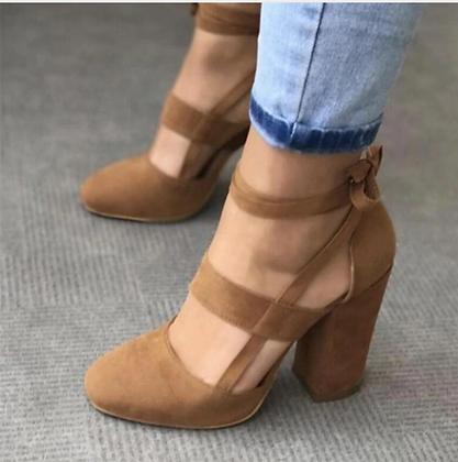 Sexy Gladiator Chunky High Heels 8cm