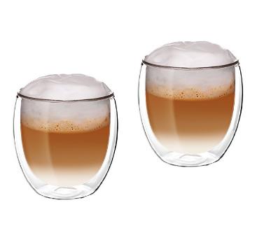 2x Double Wall Glass Mug Coffee Cup