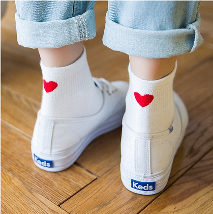 Heart Print Socks
