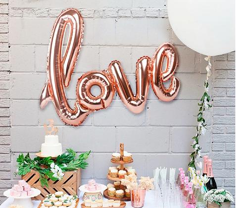 Rose Gold Love Balloon Decoration