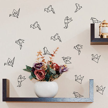 Geometric Origami Birds Wall Decoration