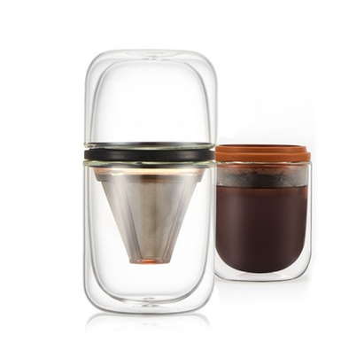 Portable Glass Coffee Pour-Over Brew Cup