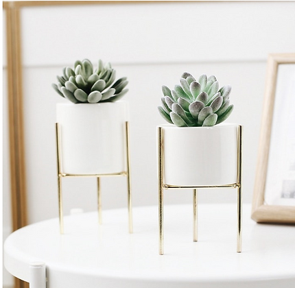 Plant Holder Vase With Ceramic Pot