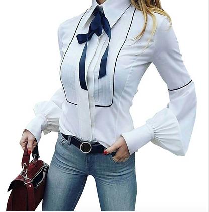 Elegant Puff Sleeve White Shirt
