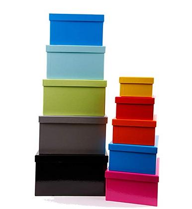 Storage Cardboard Boxes Set 12Pcs.