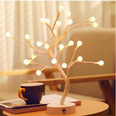 LED Cotton Ball Fairy Lights Tree