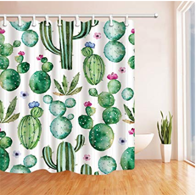 Cactus Waterproof Shower Curtain