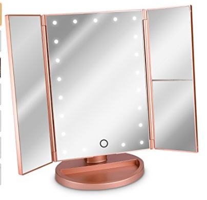 Foldable Stand Mirror Rose Gold
