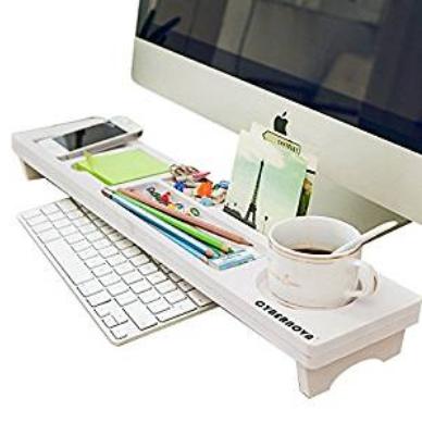 Wood Desk Keyboard Storage Organizer Rack