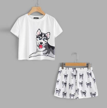 Husky Pyjamas Funny PJs Set