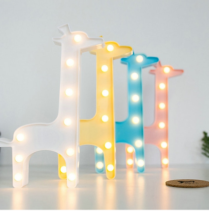 3D LED Giraffe Lamp