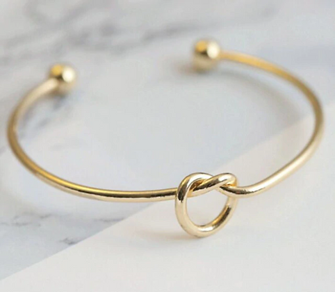 Golden Bracelet Knot Cuff