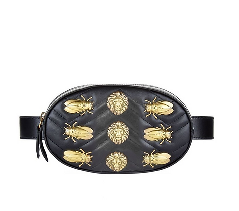 Fanny Pack with Gold Embellishments