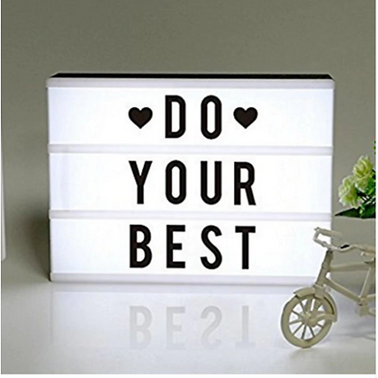 LED Light Box With Letters