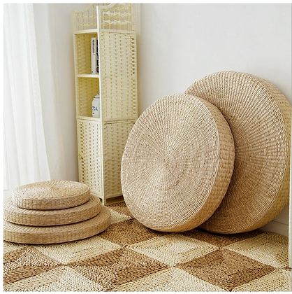 Straw Floor Cushion Pillow